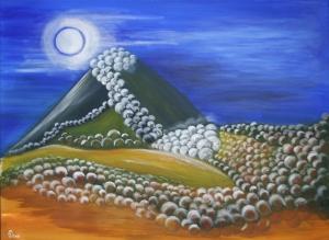 Landskap i månsken